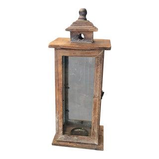 Vintage Oversized Wood Lantern