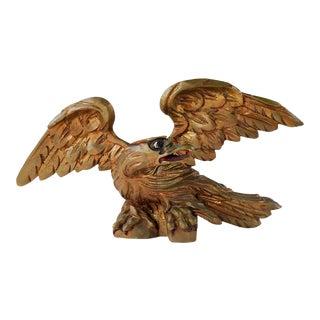 Vintage Hand Carved Wood Eagle For Sale