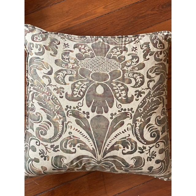 Traditional Vintage Fortuny Pillows - a Pair For Sale - Image 3 of 8