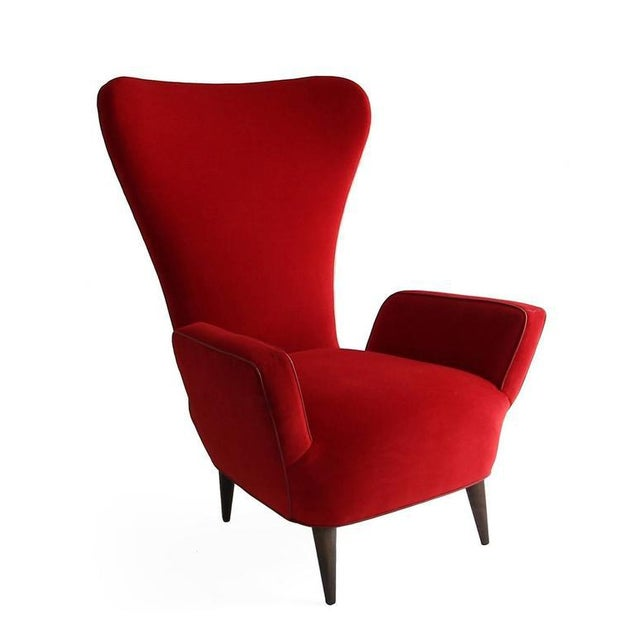 1950s Pair of Rare Low-Slung Modern Italian Sculptural Chairs For Sale - Image 5 of 7