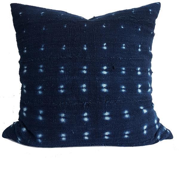 Vintage African Indigo Mudcloth Pillow - Image 1 of 2