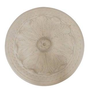Off-White Molded Concrete Medallion