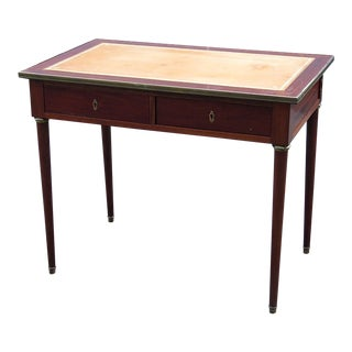 20th Century Regency Style Leather Top Writing Desk