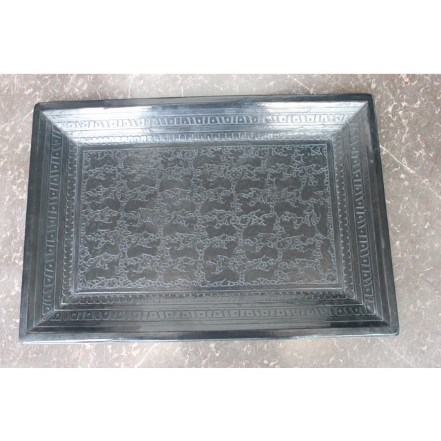 Mexican Hand-Carved Wooden Tray - Image 3 of 6