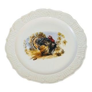 Vintage Round Turkey Platter Plate For Sale
