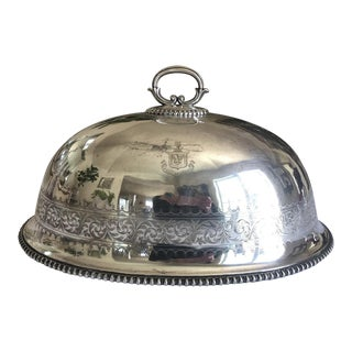 Georgian Double Crested Silver Plate Food Dome For Sale