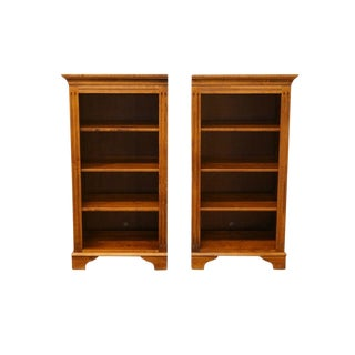 20th Century Country Ethan Allen Left and Right Bookcases - a Pair For Sale