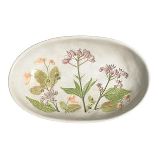 Vintage Floral Studio Pottery Dish