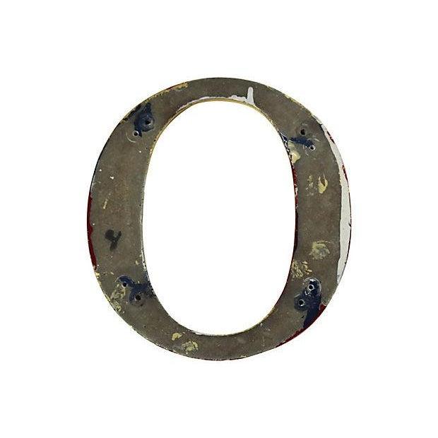 """Vintage English Pub Sign Letter """"O"""" - Image 2 of 2"""