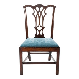 American Chippendale Mahogany Slip Seat Side Chair by Thomas Tuft For Sale