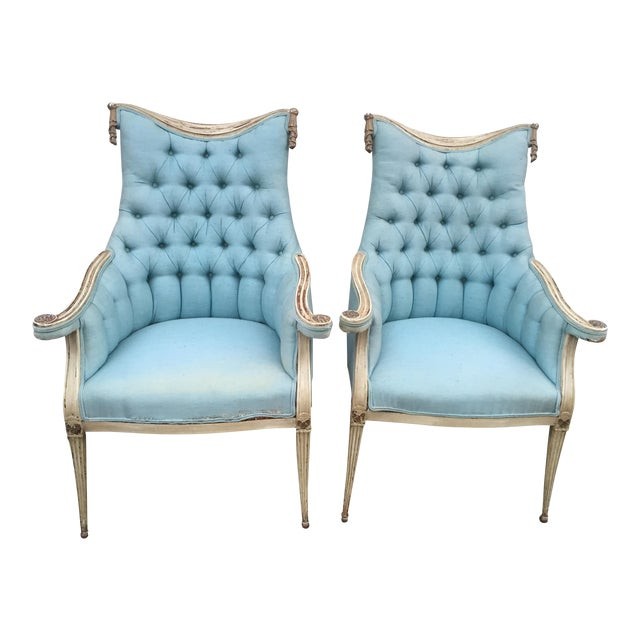 Hollywood Regency Grosfeld House Armchairs - A Pair - Image 1 of 11