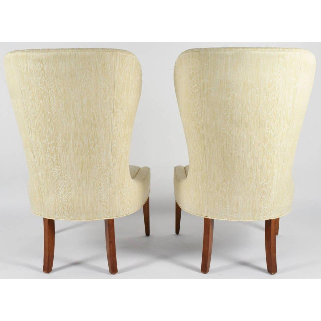 Early 20th Century Modern Balloon Back Chairs- a Pair For Sale - Image 5 of 6