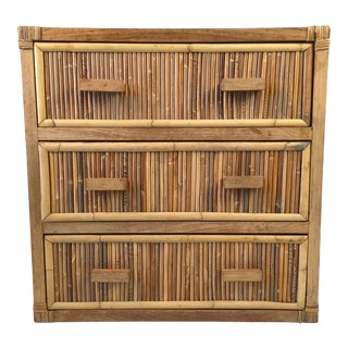 1980s Regency Pencil Reed Chest of Drawers For Sale