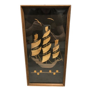 Vintage Wood Ship Wall Art For Sale
