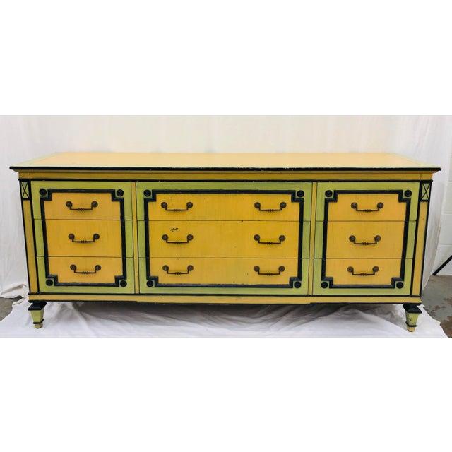 Vintage Painted Credenza Dresser For Sale - Image 12 of 12