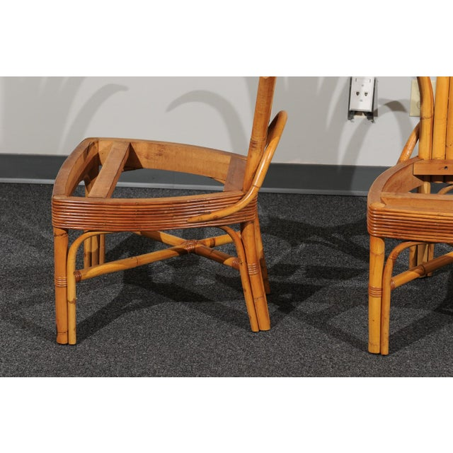 Jaw-Dropping Set of 8 Custom Made Palm Frond Dining Chairs, Circa 1950 For Sale - Image 11 of 13