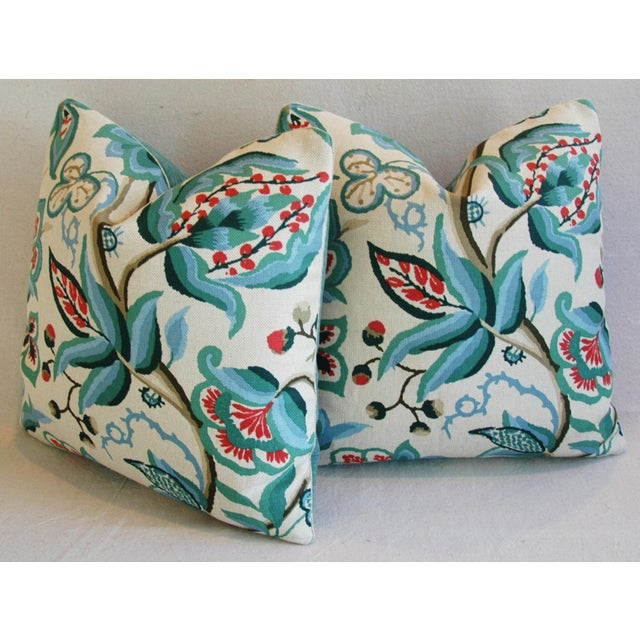 Schumacher Alexandra Floral Velvet Pillows - a Pair - Image 9 of 10