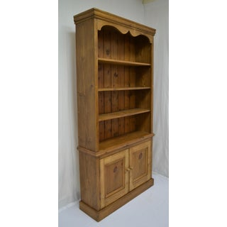 Vintage English Pine Bookcase With Two Doors Preview