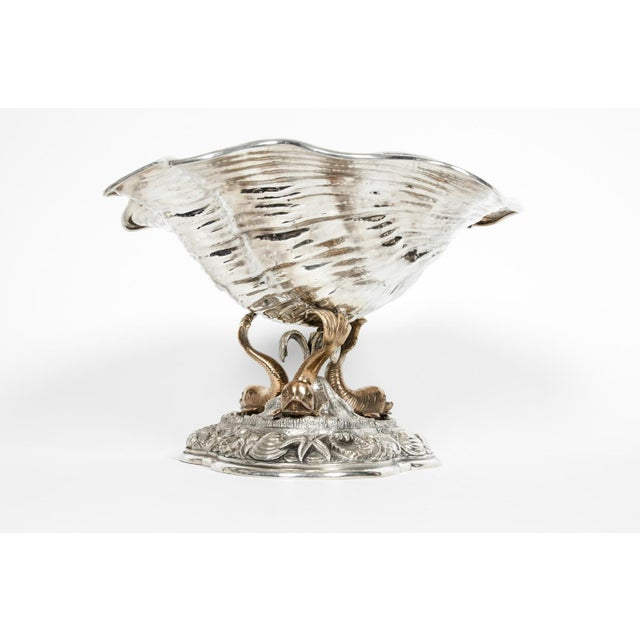 Large Antique Sterling Silver Centerpiece For Sale - Image 13 of 13