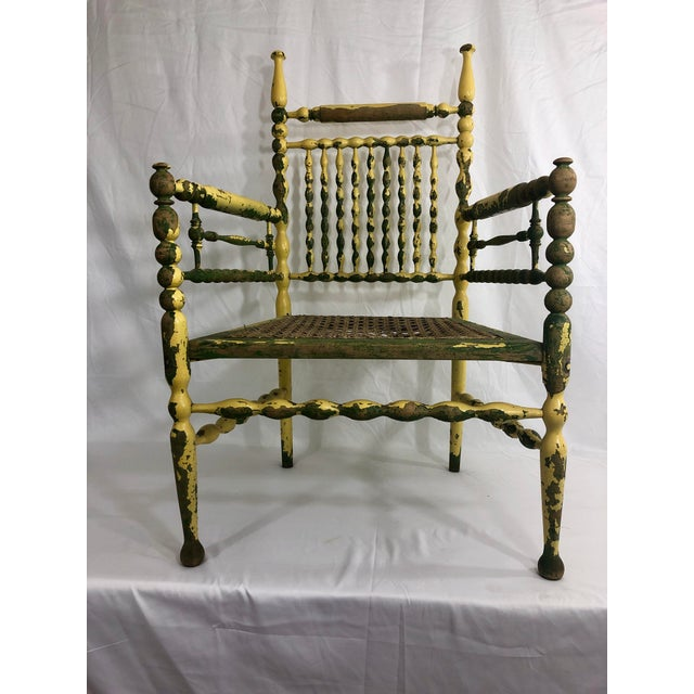 Wood American Fancy Spindle Chair For Sale - Image 7 of 7