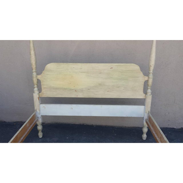 Country Canopy Bed, Painted French Country Style For Sale - Image 3 of 7