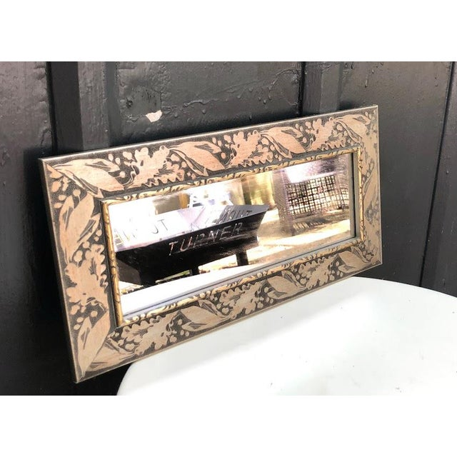 Silver-Frame Rectangular Wall Mirror For Sale - Image 4 of 5