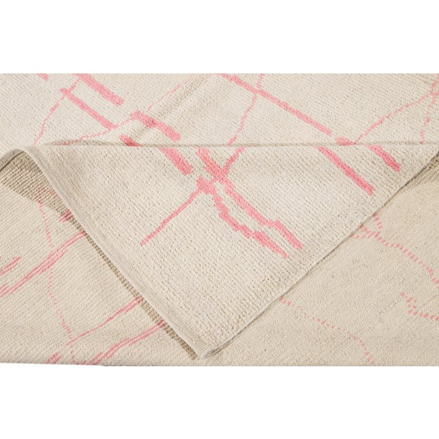 Tribal 21st Century Modern Moroccan-Style Wool Rug For Sale - Image 3 of 13