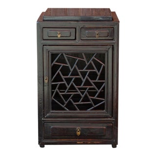 Antique Chinese Chippendale Small Cabinet For Sale