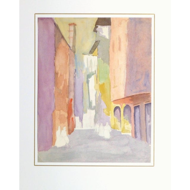 French Watercolor - Pastel Town For Sale - Image 4 of 5