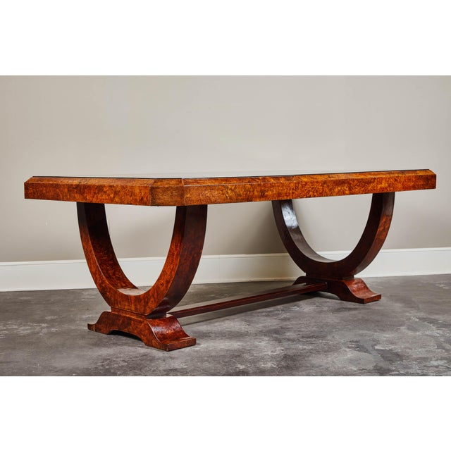 Early 20th C. French Colonial Art Deco Dining Table For Sale - Image 4 of 11