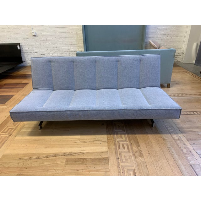 Strange Cb2 Flex Microgrid Grey Sleeper Sofa Pdpeps Interior Chair Design Pdpepsorg