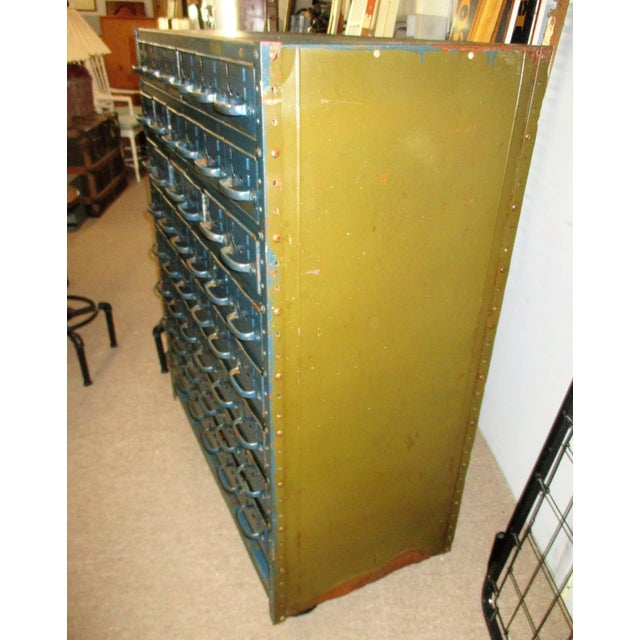 Vintage Industrial Equipto Muti Draw Parts Cabinet For Sale In West Palm - Image 6 of 13