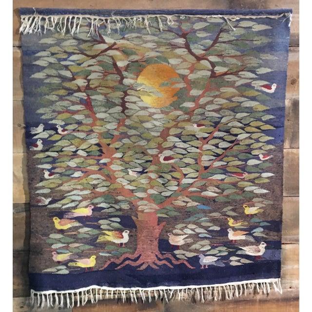 "Swedish ""Tree of Life"" Rug - 49"" x 53.5"" - Image 3 of 4"