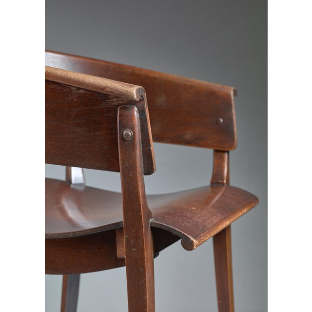 Ernst Rockhausen Bauhaus Style Plywood and Oak Chair, Germany, circa 1928 For Sale - Image 6 of 9