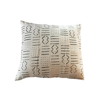 "African Textile Mud Cloth Bogolan Pillow Mali16"" W For Sale"