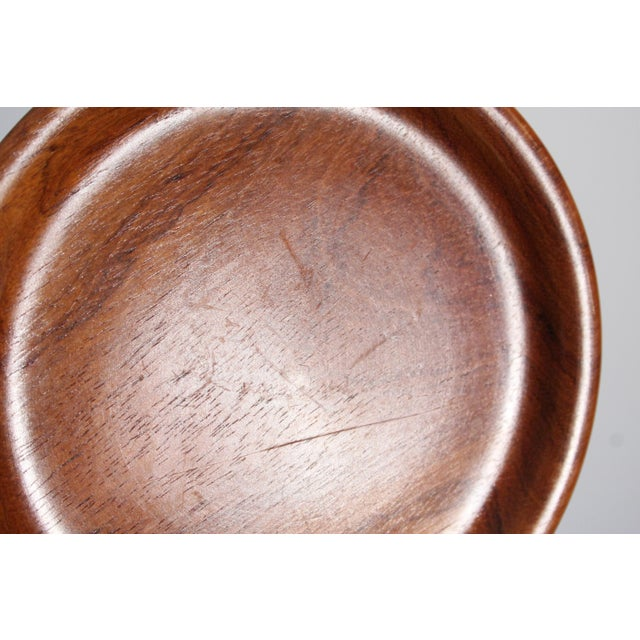 Small Carved Teak Round Tray For Sale In Dallas - Image 6 of 6