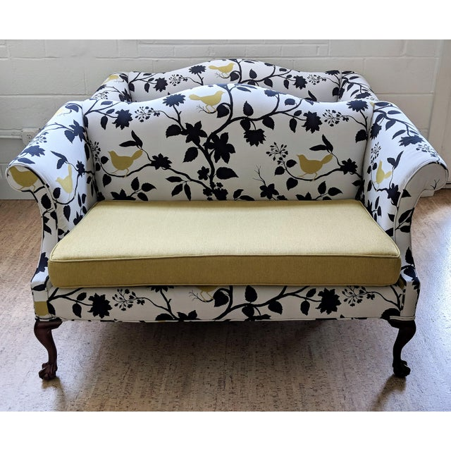 Antique Queen Anne Sofa With Ball and Claw Feet - Restored For Sale - Image 10 of 11