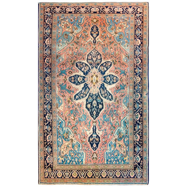 Textile Exquisite Late 19th Century Sarouk Farahan Rug For Sale - Image 7 of 7