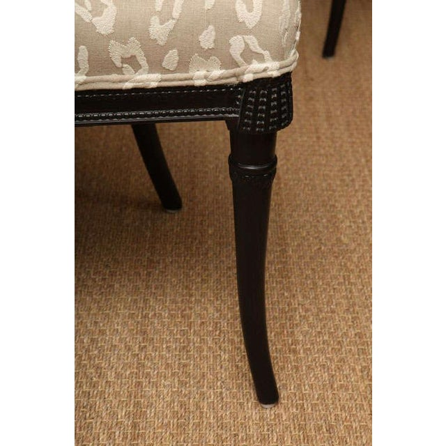 Pair of Sculptural Hollywood Regency Grosfeld House Side Chairs For Sale - Image 10 of 10