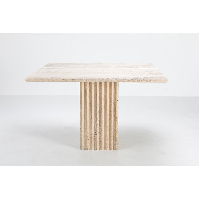 Carlo Scarpa 1970s Travertine Dining Table Carlo Scarpa For Sale - Image 4 of 9