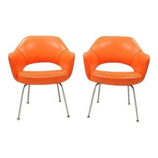 Vintage Eero Saarinen for Knoll Executive Arm Chairs- A Pair For Sale