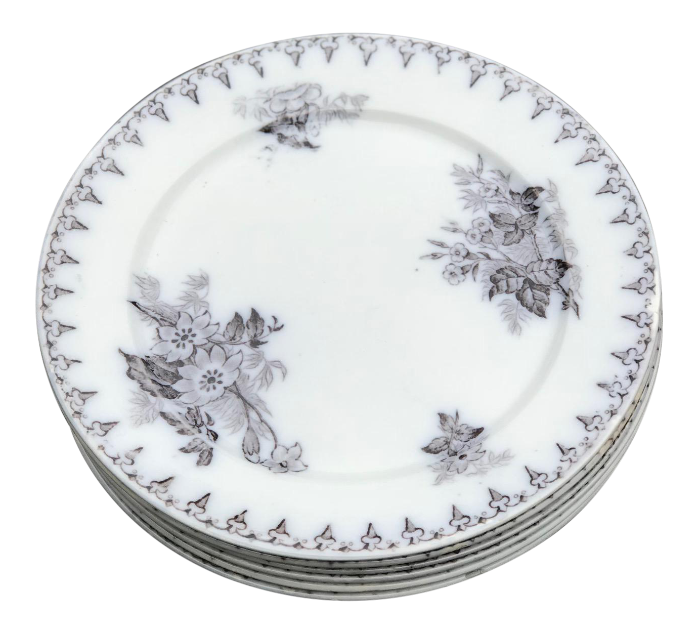 Antique Salad Plates - Set of 6  sc 1 st  Chairish : charcoal dinnerware - pezcame.com