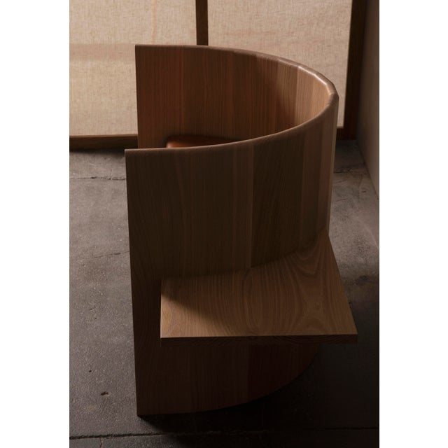 Contemporary Campagna (| Sit Chair in White Oak For Sale - Image 3 of 6