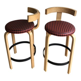 1950s Vintage Danish Modern Counter Stools- A Pair For Sale