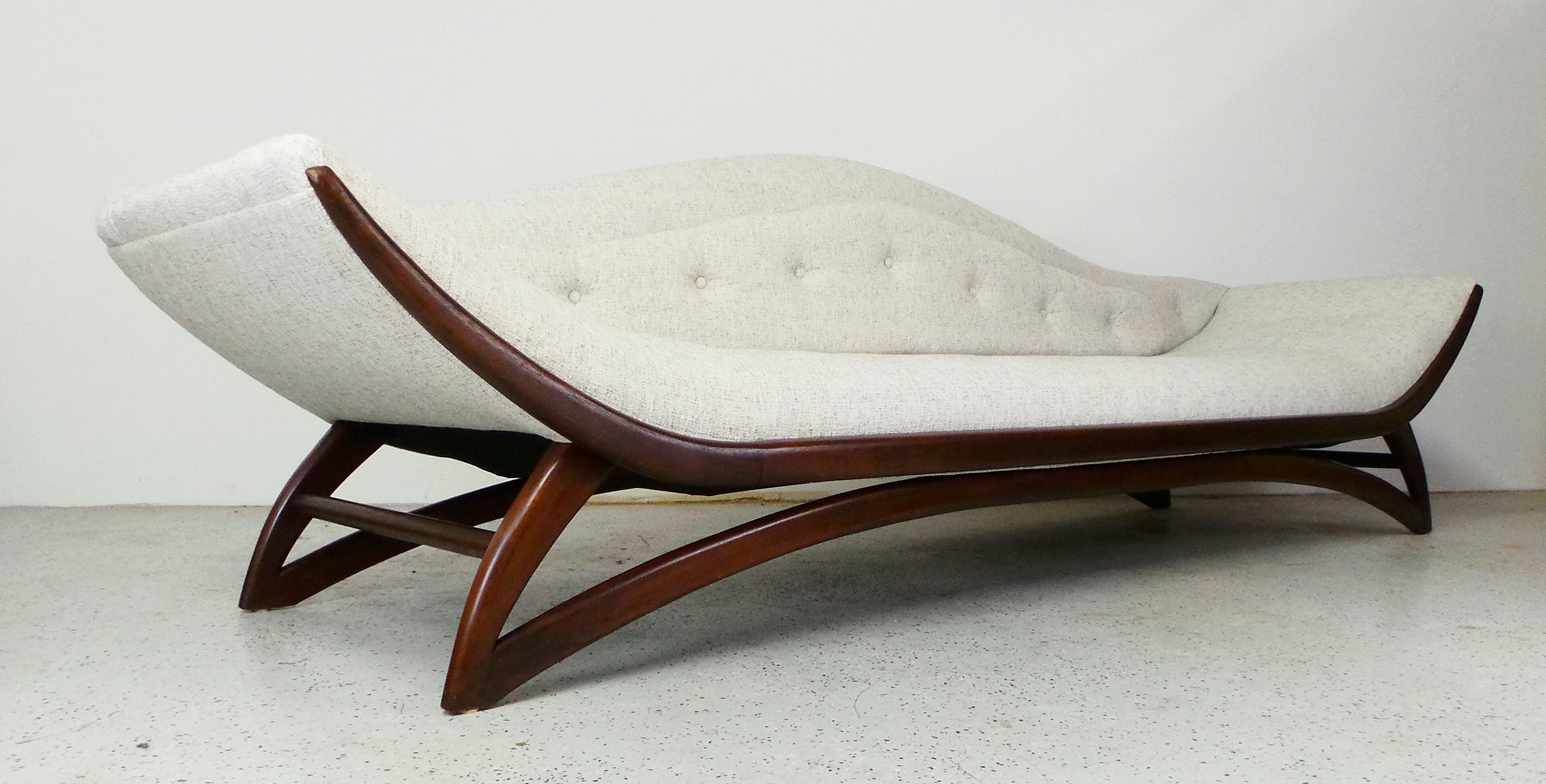 Mid Century Walnut Carson Gondola Sofa   Image 4 Of 10