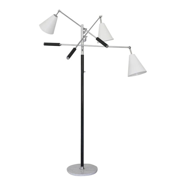 1960s Classic Triennale Three-Arm Floor Lamp For Sale