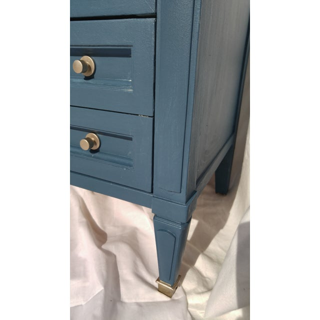 Mid-Century Blue Nightstands - A Pair - Image 8 of 10