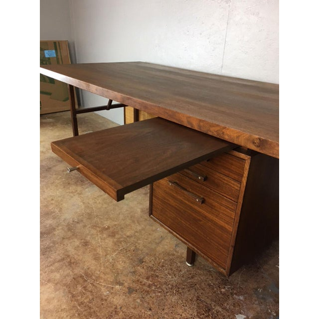 Large Walnut Executive Desk - Image 3 of 11