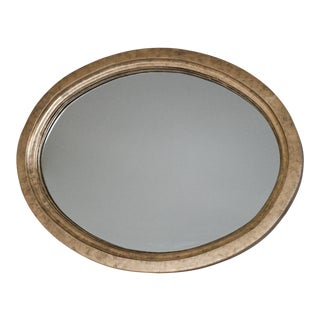 Antique Wood Oval Mirror For Sale