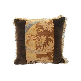 Pillow w/ 18th century French Aubusson Fragment